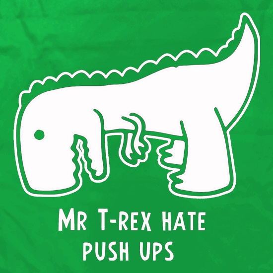 Mr T-Rex Hate Push Ups Apron