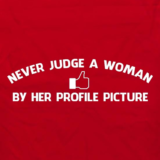 Never Judge A Woman By Her Profile Picture Apron