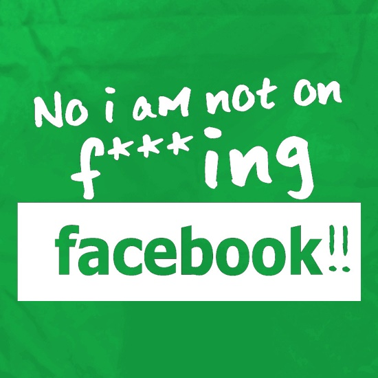 No I Am Not On F***ing Facebook Apron