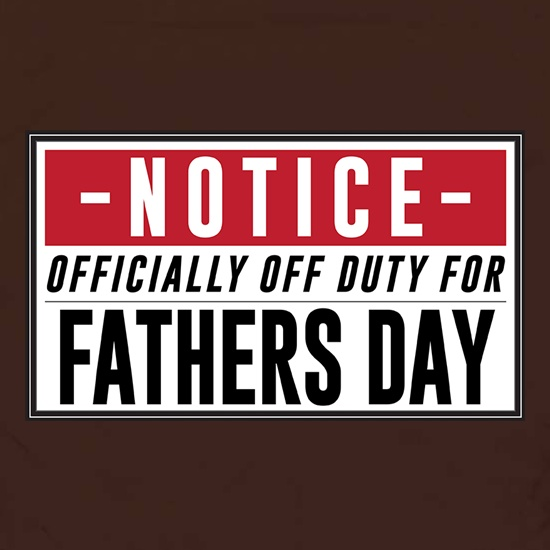 Off Duty Fathers Day Sign Apron