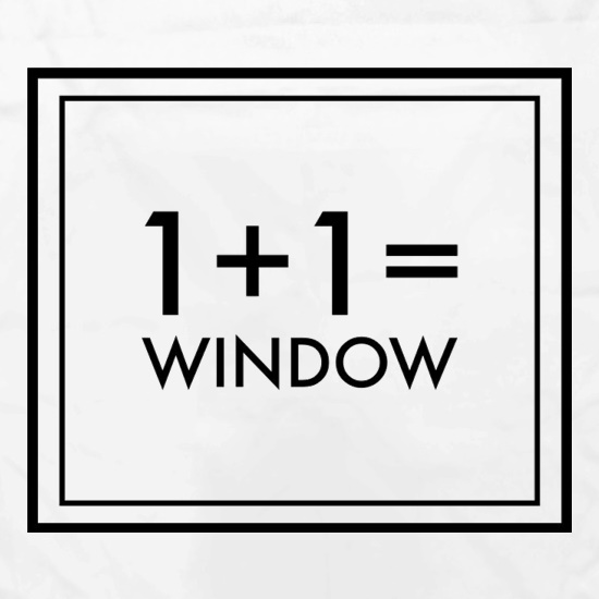 One Plus One Equals Window Apron