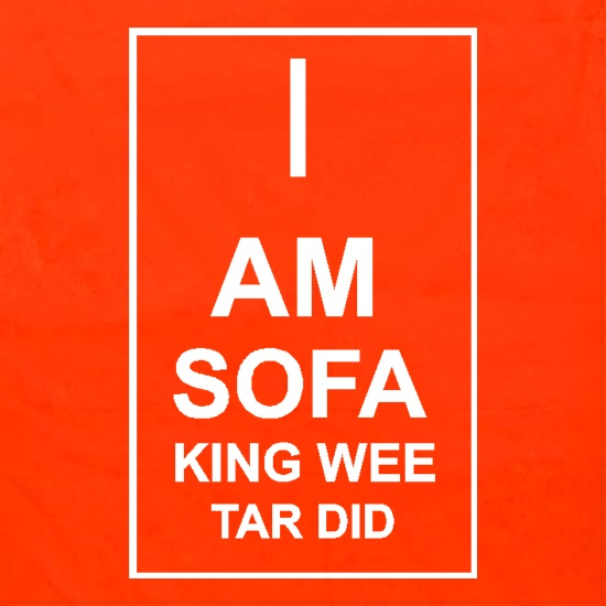 I  am sofa king wee tar did Apron