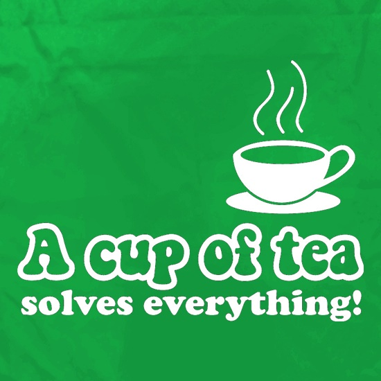 A Cup Of Tea Solves Everything Apron