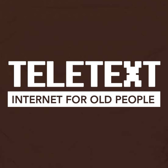 Teletext Internet For Old People Apron