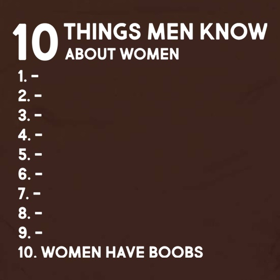 Ten Things Men Know About Women Apron