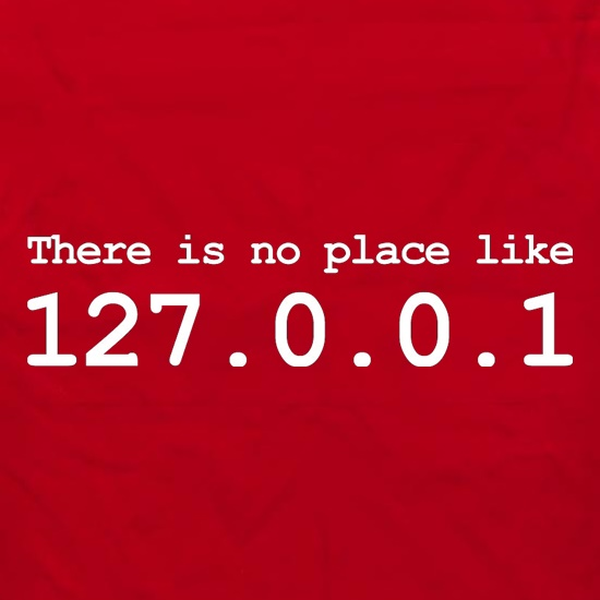 There Is No Place Like 127.0.0.1 Apron