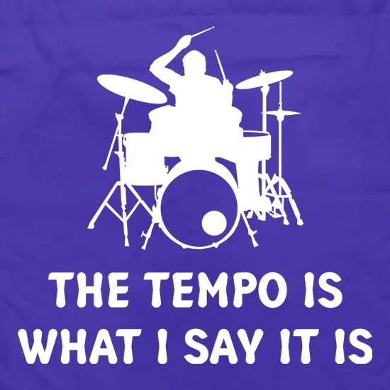 The Tempo Is What I Say It Is Apron
