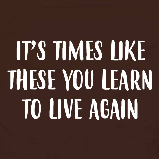 Times Like These You Learn To Live Again Apron