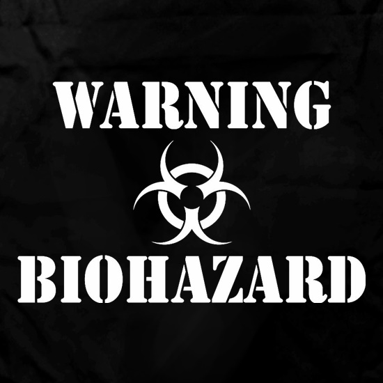 Warning Biohazard Apron