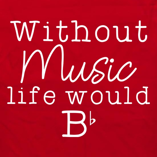 Without Music, Life Would Be Flat Apron