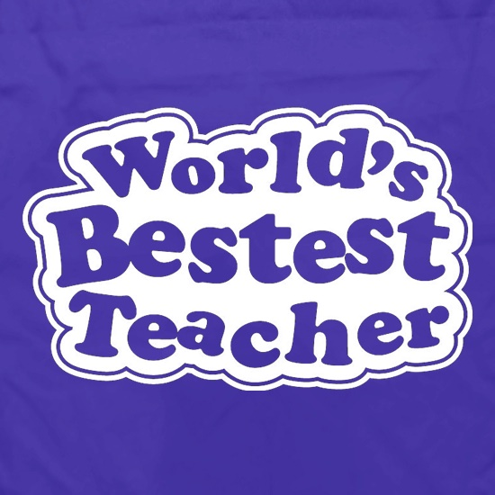 World's Bestest Teacher Apron
