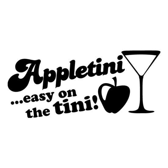 Appletini Easy On The Tini! t-shirts
