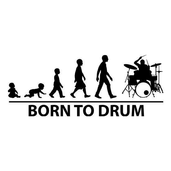 Born To Drum t-shirts