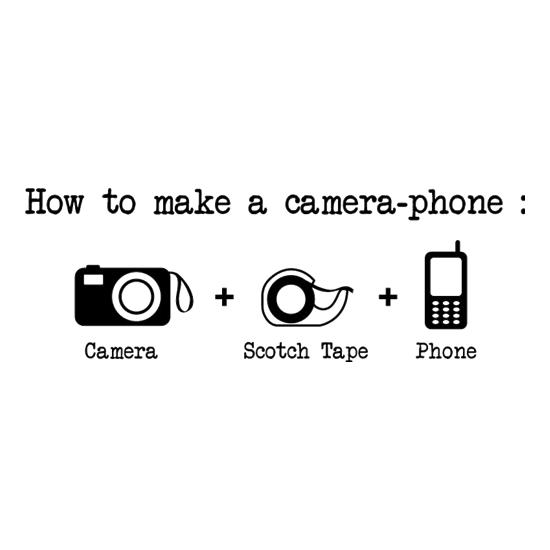 How To Make A Camera Phone t-shirts