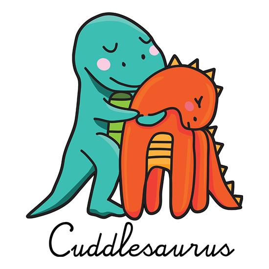 Cuddlesaurus t-shirts