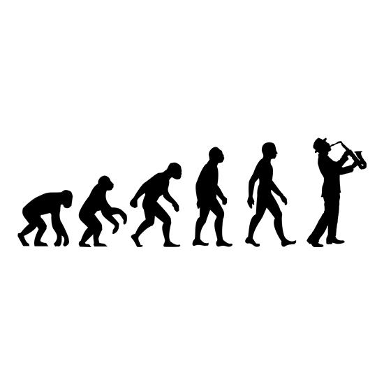 Evolution Of Man Saxophone t-shirts