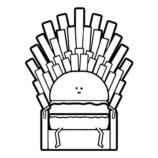 Game Of Fries t-shirts