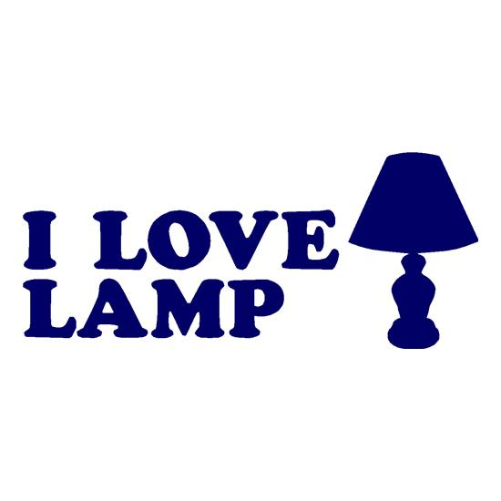 I Love Lamp t-shirts