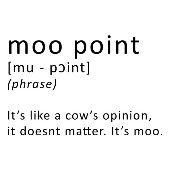 Moo Point t-shirts