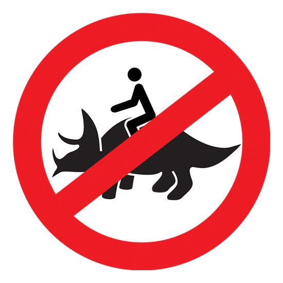 No Dinosaur Riding t-shirts