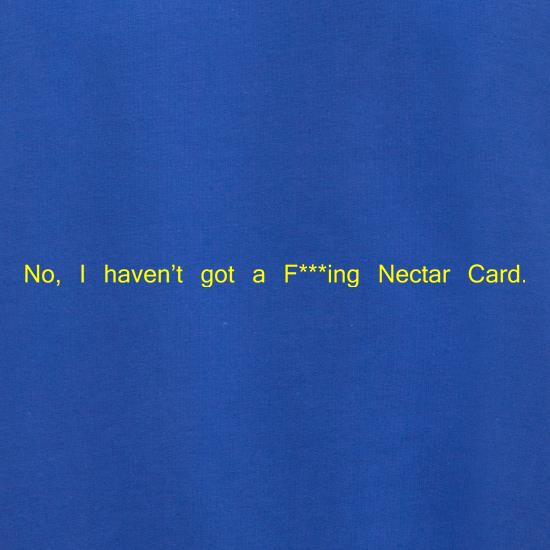 No, I don't have a f***ing Nectar Card. Jumpers
