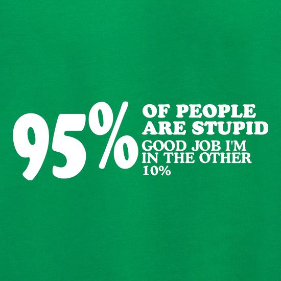 95% of People are stupid, Good job i'm in the other 10% Jumpers