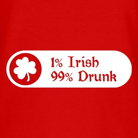 1% Irish 99% Drunk T-Shirts for Kids