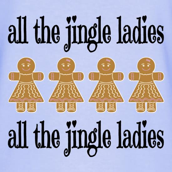 All the Jingle Gingerbread Ladies T-Shirts for Kids