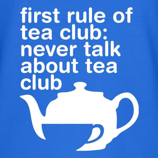 First Rule Of Tea Club T-Shirts for Kids