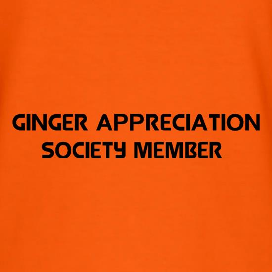 Ginger appreciation society member T-Shirts for Kids