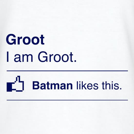 I Am Groot. Batman Likes This T-Shirts for Kids