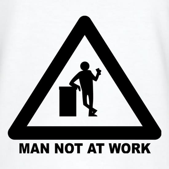 Man Not At Work T-Shirts for Kids