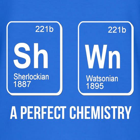 SherlockHolmes -A Perfect Chemistry T-Shirts for Kids