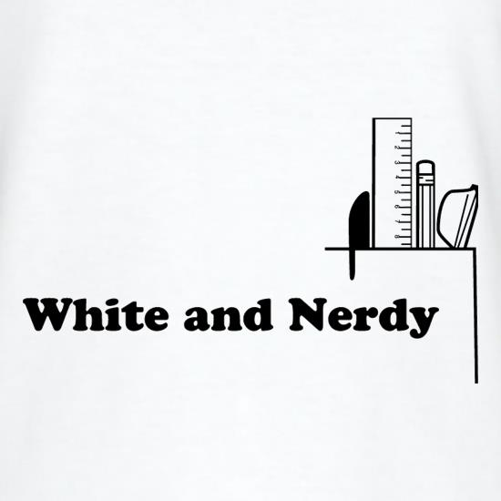 White and Nerdy T-Shirts for Kids
