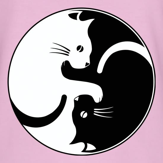 Yin Yang Cat T-Shirts for Kids