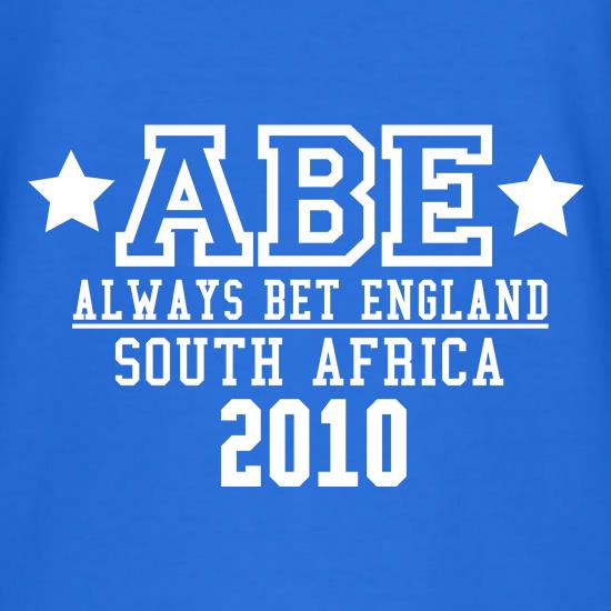 ABE Always Bet England t-shirts