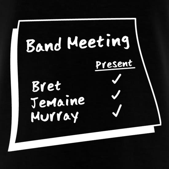 Band Meeting t-shirts