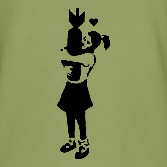 Banksy Girl With Bomb t-shirts
