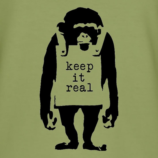 Banksy Keep It Real t-shirts