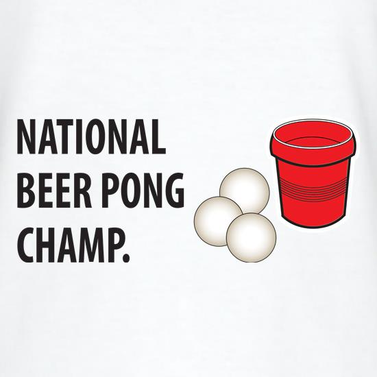 Beer Pong Champ t-shirts