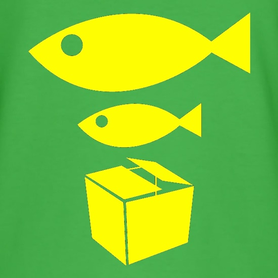 Big Fish Little Fish Cardboard Box t-shirts
