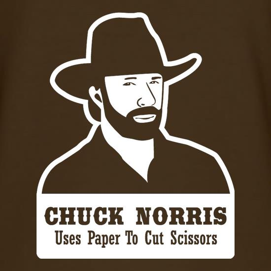Chuck Norris Uses Paper To Cut Scissors t-shirts