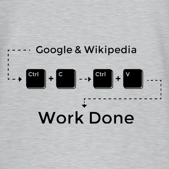Ctrl C And Ctrl V Equals Work Done t-shirts