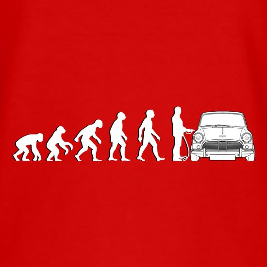Evolution Of Man Austin Cooper Driver t-shirts