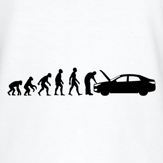 Evolution Of Man Car Mechanic t-shirts