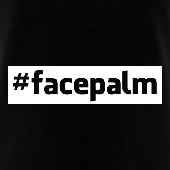Face Palm t-shirts