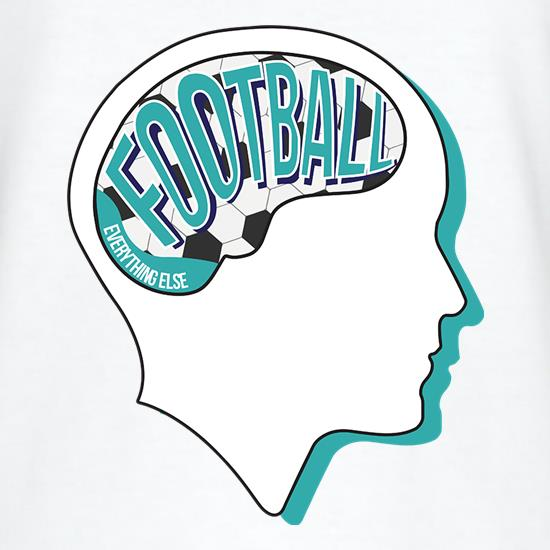 Football On The Brain t-shirts