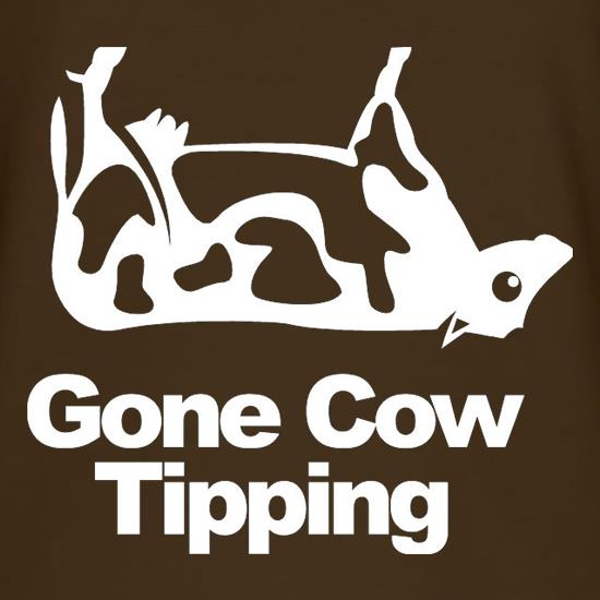 Gone Cow Tipping t-shirts