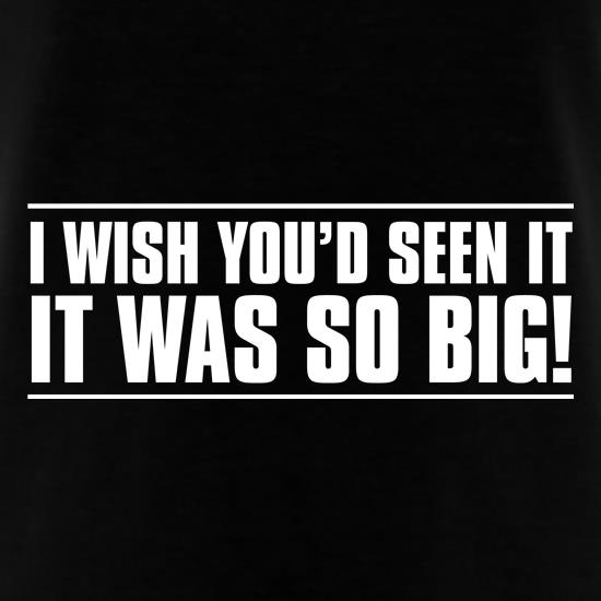 I Wish You'd Seen It. It Was So Big! t-shirts