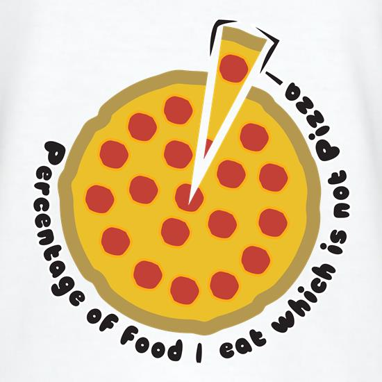 Pizza Percentage t-shirts